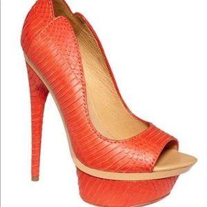 L.A.M.B. Gwen Stefani Coral Open Toe Platform